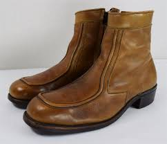 mens brown leather motorcycle boots vintage 1960 u0027s men u0027s brown leather motorcycle biker work hipster