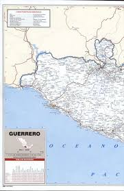 Nayarit Mexico Map by Guerrero State Roads Mapfree Maps Of Central America