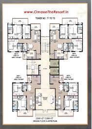 5 room floor plan 3bhk flats u2013 omaxe the resort mullanpur new chandigarh