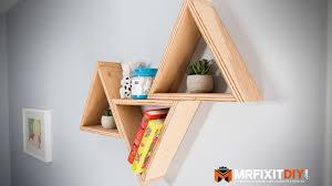Diy Honeycomb Shelves by Diy Triangle Shelves Less Than 20 Youtube