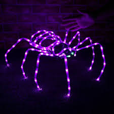 large 3d led halloween spider light halloween lighting