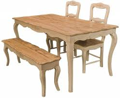 Farm Table With Bench And Chairs Bench Country Kitchen Table With Bench Dining Set Country