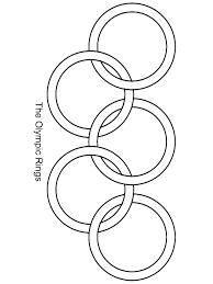 olympic rings coloring page classic olympic rings coloring page