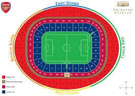 United Center Seating Map Emirates Stadium Seating Plan The Club News Arsenal Com
