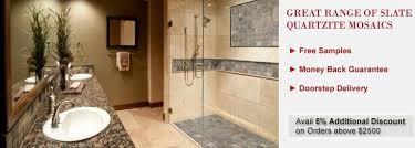 Quartzite Slate Subway Backsplash Tile by Shop For Slate U0026 Quartzite Mosaic Tile Kitchen U0026 Bathroom