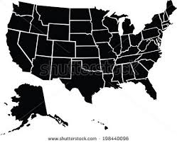 united states including alaska and hawaii blank map chunky map usa including alaska stock vector 198440096