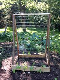 make a cucumber trellis out of scrap wood hobby farms