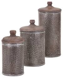 kitchen canisters and jars brton lidded canisters 3 set rustic kitchen