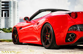Ferrari California Black - california savini wheels