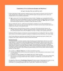 resume executive summary lukex co
