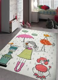 tapis chambre enfant mademoiselle creme de la collection