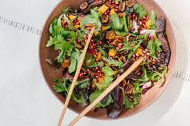 sweet potato pomegranate seed salad camille styles