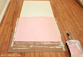 Pink Laminate Flooring How To Paint A Rug Using Vinyl Flooring Love Of Family U0026 Home
