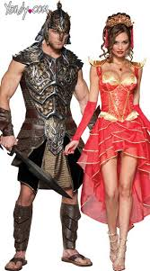 Zombie Slayer Halloween Costume Warrior Couples Costume Dragon Slayer Couples Costume Deluxe