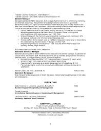 Hospitality Resume Objective Examples job resume free restaurant manager resume examples template