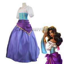 Ball Gown Halloween Costumes Hunchback Notre Dame Esmeralda Cosplay Dress Ball Gown