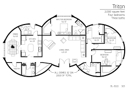 Home Design 2000 Square Feet 2 000 Square Feet Four Bedrooms Three Baths Dome Home For My