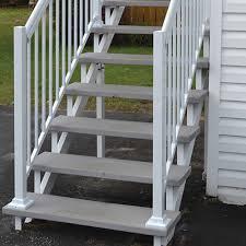Prefabricated Aluminum Stairs by 7 Step Aluminum Stair Riser Metal Stair Stringers U0026 Steps Canac