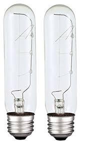 specialty light bulb stores amazon com t10 40 watt clear 2700k e26 medium base incandescent