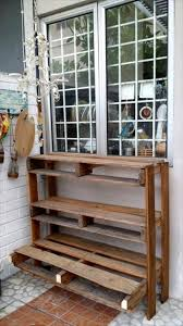 Shelves From Pallets by Pallet Vertical Shelves For Storage And Display
