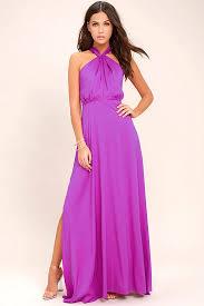 lovely purple dress maxi dress halter dress gown 74 00