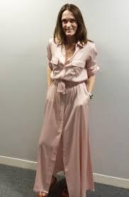 style agenda silk maxi shirt dress