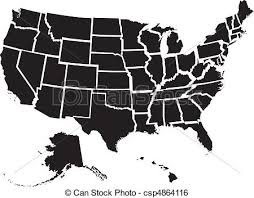 united states map vector united states map detailed vector file of all fifty clip
