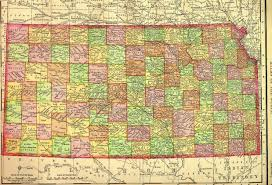 Kansas Counties Map Kansas 1895 Map Addendum