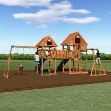 Backyard Playground Slides by Vista Wooden Swing Set Playsets Backyard Discovery