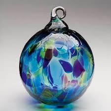 104l glass eye studio ornament blue mosaic glass eye studio