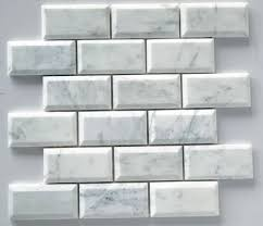 Marble Subway Tile Kitchen Backsplash Adex 3x6 Beveled Crackle Subway Tile White From Classic Tile