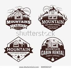 Wyoming travel icons images Set vector mountain outdoor recreation logo stock vector 609592118 jpg