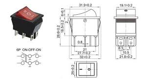 on off on kcd4 16a rocker switch micro 2 pin red 16a power rocker