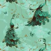 peacock fabric wallpaper gift wrap spoonflower