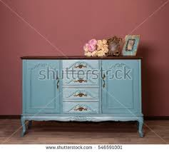 Blue Vanity Table Vintage Blue Wooden Dresser Isolated On Stock Photo 547014718