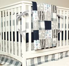 Baby Boys Crib Bedding by Woodland Nursery Bedding Set Deer Crib Bedding Navy Blue Gray