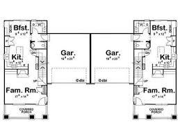 Duplex Plans With Garage Duplex Plans With Garage In Middle Duplex Diy Home Plans Database