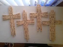 Decorative Wooden Crosses For Wall Clothes Pin Crosses Diy Pinterest Clothes Craft And