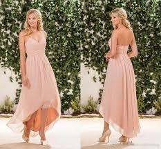 pink dress for wedding 2017 cheap blush pink bridesmaid dresses halter chiffon high