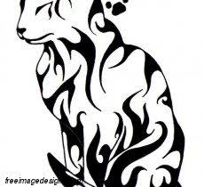tribal cat image design free image designs