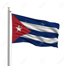 Flag Pole Express Flag Of Cuba With Flag Pole Waving In The Wind Over White