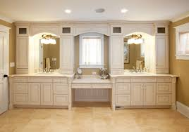 another new trend in bathroom vanities is hanging the cabinets off