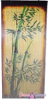Painted Bamboo Curtains Bamboo Painted Beaded Curtain Zen Decor Door With