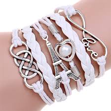 double charm bracelet images 2016 new fashion jewelry infinite double leather multilayer charm jpg