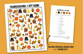 13 free thanksgiving printables from a pie box to i spy for kids