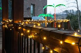 Decorate Outdoor Railing Christmas by Deck Railing Lights Crafts Home