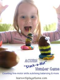 learn with play at home acorn number and balancing game