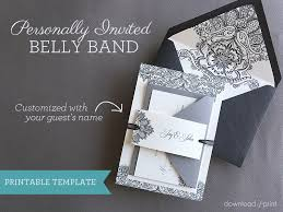 Wedding Invitation Diy Diy Wedding Invitation Belly Band With Guest Names