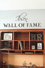 script name wall fame wall decal trading phrases