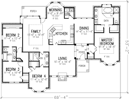4 bedroom one story house plans one story four bedroom house plans home decor 2018